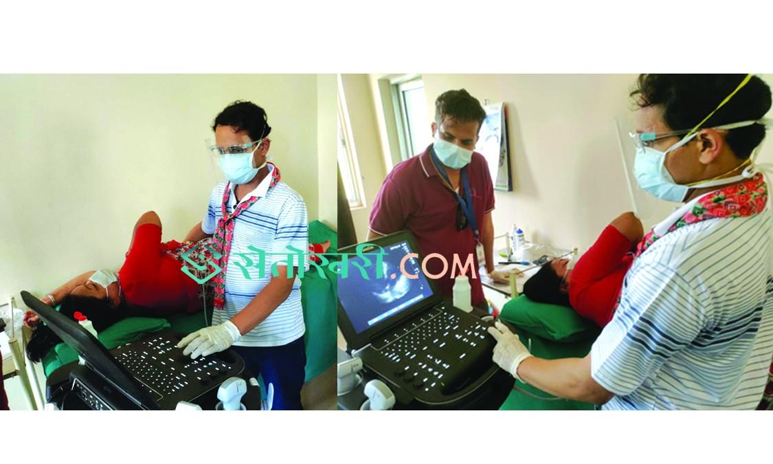 क्यान्सर अस्पताल खजुरामा पहिलो पटक मुटुरोग उपचार शिबिर